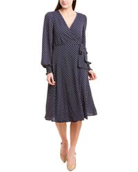 Max Studio Wrap Dress - Blue