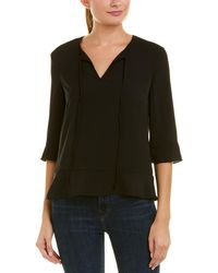 French Connection Classic Crepe Top - Black