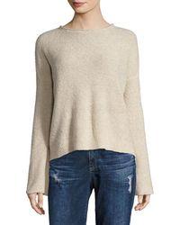 Sea Bleu Boatneck Bell Sleeve Sweater - Natural