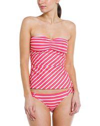 """Ella Moss """"portofino"""" Coral Stripe Brief - Pink"""