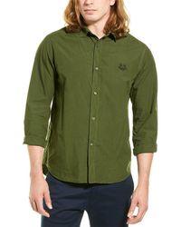 KENZO Tiger Crest Woven Shirt - Green