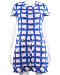Chanel Pink & Blue A-line Dress, Size Fr 34