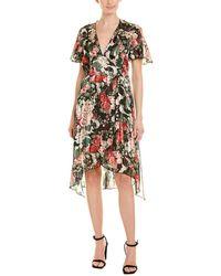 Anna Sui Rose Garland A-line Dress - Green