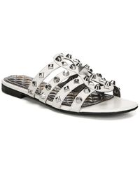 Sam Edelman Beatris Leather Slide - White