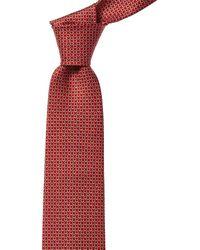 Ferragamo Red Gancini Print Silk Tie