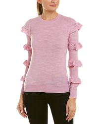 Rebecca Taylor - Ruffle Wool Pullover - Lyst