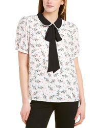 Cece By Cynthia Steffe Bouquet Collared Blouse - White