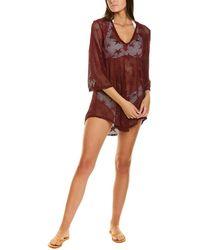 Jordan Taylor Bell-sleeve Tunic - Red