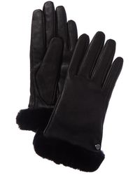 UGG Classic Leather Tech Gloves - Black