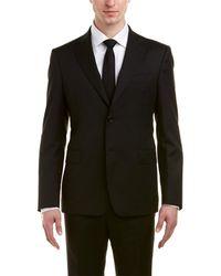Roberto Cavalli Comfort Fit Wool Suit - Black