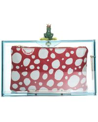 Charlotte Olympia Frog Prince Pandora Perspex Clutch - Red