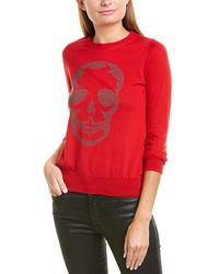 Zadig & Voltaire Miss Skull Studs Wool Sweater - Red