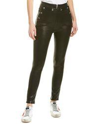Rag & Bone Penton Leather Pants - Black