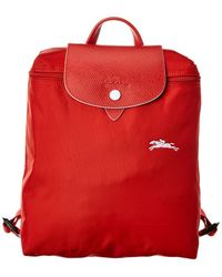 Longchamp Le Pliage Club Nylon Backpack - Red