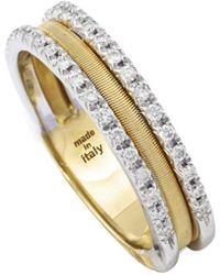 Marco Bicego - Goa 18k 0.26 Ct. Tw. Diamond Ring - Lyst