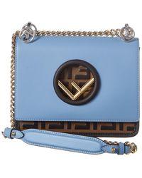 Fendi - Kan I F Small Leather Shoulder Bag - Lyst