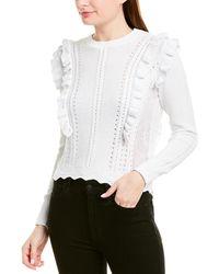 Rebecca Taylor Ruffled Pullover - White