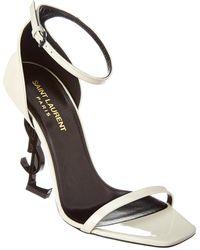 Saint Laurent Opyum 110 Patent Sandal - White