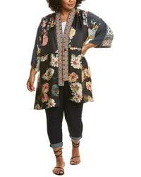 Johnny Was Payden Silk-blend Kimono - Multicolor
