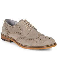 Kenneth Cole Leather Derby Brogues - Brown