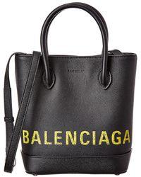 Balenciaga Ville Xxs Leather Tote - Black