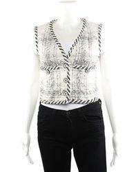 Chanel Women's Wool & Silk-blend Fantasy Vest, Size Fr 34 - Multicolor