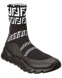 Fendi - High-top Sock Sneaker - Lyst