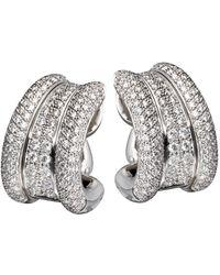 Chopard - 18k 3.48 Ct. Tw. Diamond Earrings - Lyst
