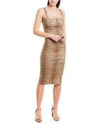 Capulet Lola Leopard-print Midi Dress - Brown