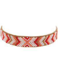Deepa Gurnani Wafa Choker Necklace - Red