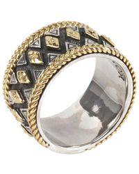 Konstantino 18k & Silver Ring - Metallic