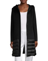 Cinzia Rocca - Hooded Long Coat - Lyst