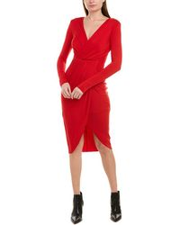 Bailey 44 Destroyed Sheath Dress - Red