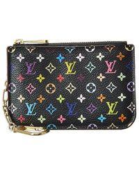 Louis Vuitton Black Monogram Multicolore Canvas Pochette Clefs