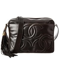 5ca2e0531f24 Chanel Black Quilted Lambskin Leather Chevron Mini Flap Bag in Black ...