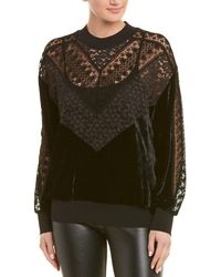 Stella McCartney Lace & Velvet Sweatshirt - Black