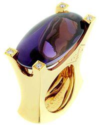 Van Cleef & Arpels Vintage Van Cleef & Arpels 18k 0.16 Ct. Tw. Diamond & Amethyst Ring - Metallic