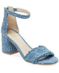 bfe64928f755 Lyst - Vionic Carmel Banded Leather Block Heel Sandals in Green