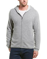 James Perse Double Layer Cashmere Hoodie - Gray