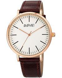 August Steiner Quartz White Dial Mens Watch - Metallic