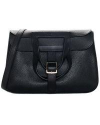 Hermès Black Clemence Leather Halzan 31 Phw