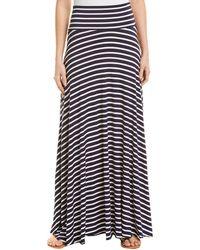 Rachel Pally Striped Maxi Skirt - Blue