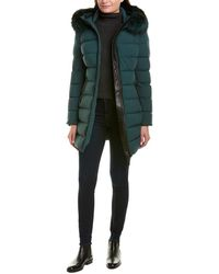 Mackage Calla-x Leather-trim Down Coat - Green