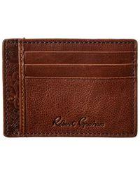 Robert Graham Sainz Leather Card Case - Brown