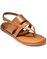 Cole Haan Finley Grand Leather Sandal - Brown
