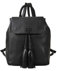 Tory Burch Taylor Leather Backpack - Black