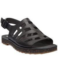 Camper Tws Leather Sandal - Black