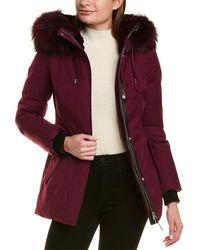 Mackage Larysa Leather-trim Down Parka - Purple