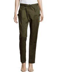 Balenciaga Cotton Six-pocket Cargo Trousers - Green