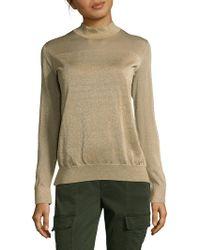 Akris Rib-knit Pullover Sweater - Metallic